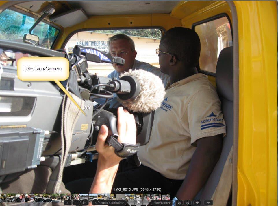 TV Team dreht bei SCOUT-LOGIC
