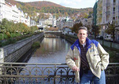 Stadtbild in Kurort Karlovy Vary