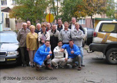 Das erste Gruppenfoto unserer CZ-Fahrschule