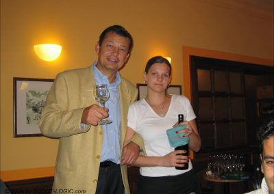 Hotelchef Franz und Mitarbeiterin Marketa Raumova