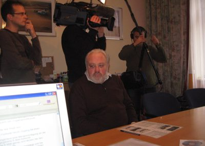 Norbert konzentriert