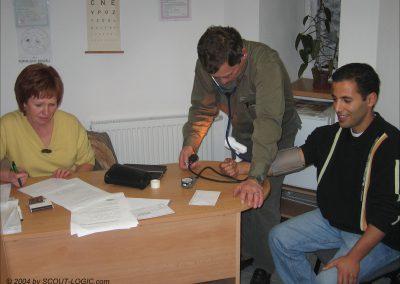 Blutdruck-Messung auf Tschechisch