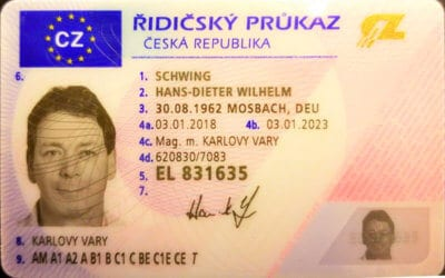 der erste ausgestellte tschechische Führerschein in 2018