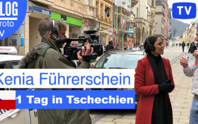 TV Team dreht in Tschechien zum Kenia Führerschein