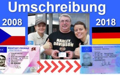 Umschreibung tschechischer Führerschein