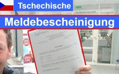Meldebescheinigung Tschechien besorgen