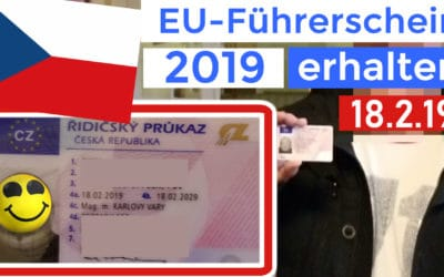 EU Führerschein Tschechien am 18.2.19 erhalten