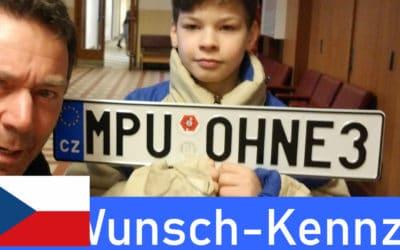 Wunschkennzeichen Tschechien erhalten