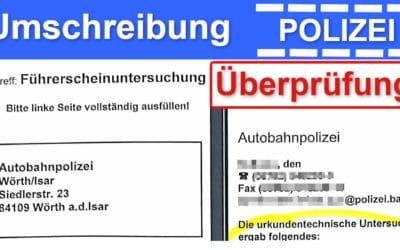 EU Führerschein umschreiben – so prüfen die Beamten