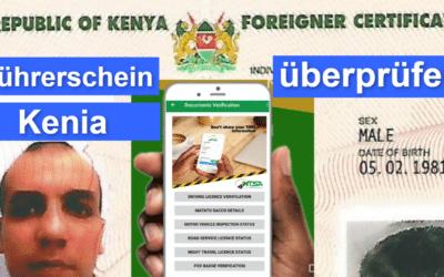 Kenia Führerschein mit Google App überprüfen