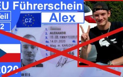 EU Führerschein Tschechien 2020 für Alex – Teil 1